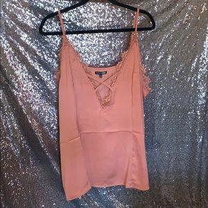 Blush Eyelash Lace Tank Top Fashion Nova